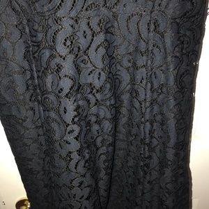LOFT Dresses - Loft black lace dress